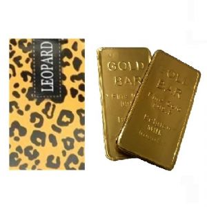 Animal Print Gift Card Silver Crane Tin - Filled With Chocolate Gold Bars, Hearts or Bubblegum